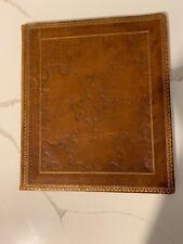 Vintage leather Two Pocket Wedding Portfolio/Frame