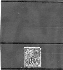 TAHITI Sc 9(YT 11)*VF LH 1893 10c BLACK/LILAC $130