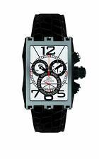 Gio Monaco Men's 626-A Mac V Chronograph Silver Dial Alligator Leather Watch