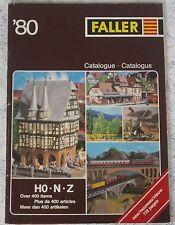 per Faller Modellismo Anno Catalogo 1980 3 lingue, engl-franz niederl