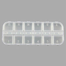 Empty Nail Art Glitter Rhinestone Storage Numbered Box Case Container Tool