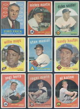 1959 Topps Complete Baseball Set Koufax Clemente Mantle Gibson Aaron Mays PRVE