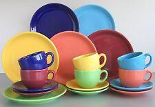 Top color Kaffeeservice 18 teilig Farbenmix aus 6 Farben CreaTable Steingut