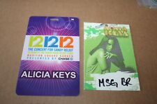 Alicia Keys - 2 x Backstage Pass - Sandy Relief Concert - FREE SHIPPING