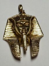 MEN 925 STERLING LAB DIAMOND ICED OUT MICRO JESUS FACE GOLD CHARM PENDANT*SGP25