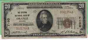 US National Currency 1929 Orange Virginia type I CH7150 scarce Note!
