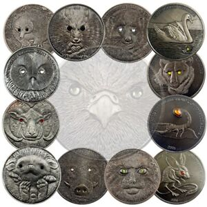 🔥 13 Styles/ Lot Mongolia animal Commemorative Coins