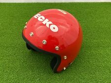 NEW Vintage 1980's ECKO BMX HELMET Open Face RED Small ECHO NOS Bike Collection