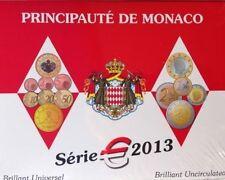 Monaco 2013 KMS 5, 88 euro, incl. 2013 2 € Albert II + 2 € UNO.  AUFLAGE 10000