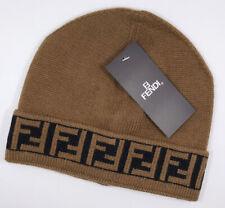 Men Womens Fendi Beanie Cap Brown Hat