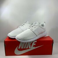 Nike Roshe Run One Men's Triple White-White [511881-112] Multi Size FREE SHIP