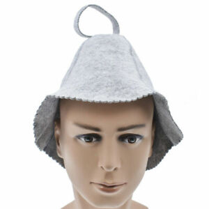 Wool Felt Sauna Hat Cap Gray Russian Bath House Head Protection Accessories Acc
