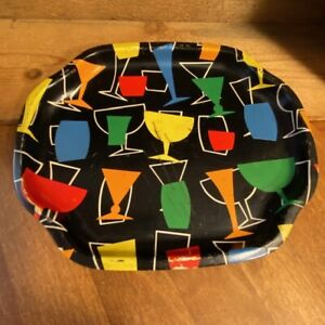 Vintage Small 1950's 1960's Colourful Serving Cocktail Tray – Retro!