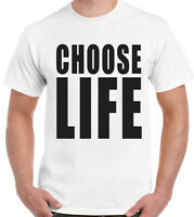 Choose Life Mens T-Shirt George Michael Stag Do Fancy Dress Costume Outfit 80's