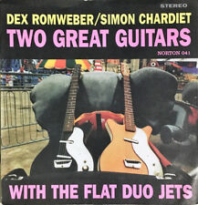 "DEX ROMWEBER & SIMON CHARDIET 'Two Great Guitars 7"" Flat Duo Jets white stripes"