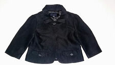 Banana Republic Womens Coat Size 4 Jacket Black Cropped Long Sleeve Mini Pin Up