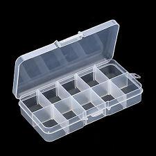 5 X leer 10 Zellen Aufbewahrungskoffer Box für Nail Art Spitzen Edelsteine