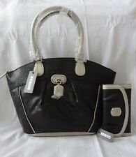 GUESS NEW COLOGNE LOGO DOME SATCHEL HANDBAG PURSE WITH MATCHING WALLET