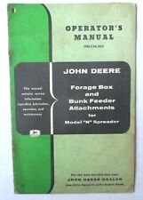 JOHN DEERE FORAGE BOX AND BUNK FEEDER ATTACHMENTS OWNERS MANUAL ORIGINAL