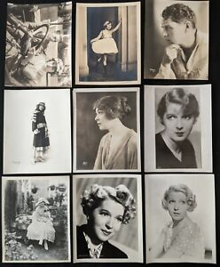 1910s-1930s Kathleen Clifford Ina Claire John Bowers DBW Photo Lot (9pcs) BB