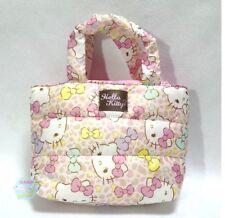 SANRIO KAWAII Hello Kitty Soft Handle Quilting Mini Tote Bag Leopard Pattern