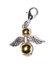 Gold Guardian Angel Silver Clip On Bracelet Charm Christmas Bridesmaid Birthday