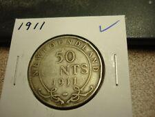 1911 NFLD - Canada - Silver 50 cents - half dollar -