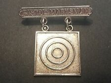 US Marine USMC Pistol Marksman Badge Pin