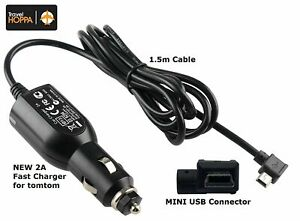 REPLACEMENT CAR CHARGER FOR NEXTBASE DASH CAMS - MINI USB 2A FAST CHARGE 12/24V