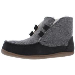 Minnetonka Womens Cozy Weekend  Gray Bootie Slippers 9 Wide (C,D,W) BHFO 2129