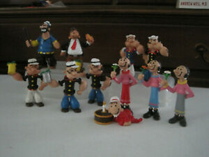 80's Popeye & pals 11 COMICS  SPAIN  figures