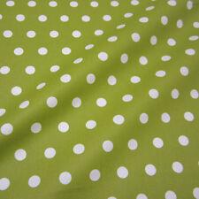 Stoff Meterware Baumwollstoff Punkte grün groß beschichtet wasserdicht Wachstuch