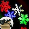 Outdoor Moving Snowflake Landscape Laser Projector Xmas Garden LED Holiday Light