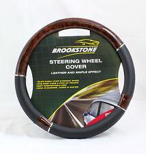 Brookstone voiture volant couverture (cuir / érable) pour grip doux et confortable