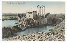 1910 Postcard of a Gold Dredge near Oroville CA