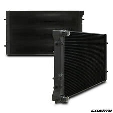 42mm BLACK ALLOY RACE RADIATOR RAD FOR SEAT LEON 1.6 1.8T CUPRA R 1.9 TDI 02-06