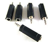 "Adattatore AUDIO STEREO SPINA 3.5 mm A 6.35 mm (VECCHIO 1/4"") Socket 5 PEZZI OM0829"