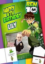Ben 10 Birthday Card with PRINTED envelope and MESSAGE inside!