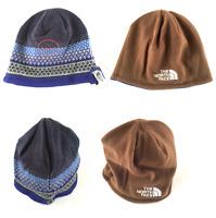 The North Face Reversible Beanie Hat Blue Brown Warm One Size Pattern Walk  Trek b764222e9270