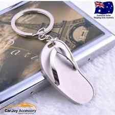 3D Fashion Slipper Metal Car Keyring Chains Car Badge Key Ring Pendant Gift