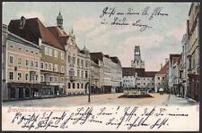 AK Braunau am Inn, Oberer Stadtplatz, 1904