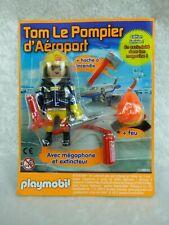 PLAYMOBIL figurine Edition Limitée  TOM LE POMPIER D'AEROPORT
