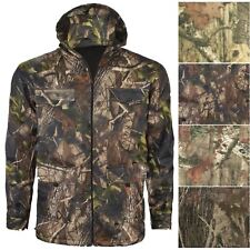 MENS CAMOUFLAGE JACKET JUNGLE PRINT COMBAT HOODIE HUNTING COAT FOREST HOODED TOP