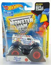 Ice Cream Man Hot Wheels Monster Jam Battle Slammer Diecast Monster Truck NEW
