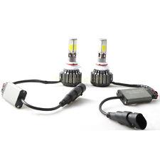 2 Pcs 120W COB 4 Sides LED headlight 12000LM 9006 HB4 6000K Hid White Bulbs