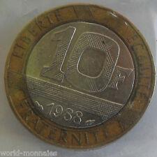 10 francs Génie de la bastille 1988 : TTB : pièce de monnaie française
