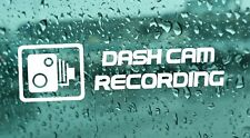 4x Dash Cam Recording CCTV Warning  Vinyl Decal Sticker Window Car Body Bumper