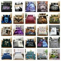 3D Animal Skull Duvet Cover Set Twin/Queen/King Size Bedding Set Pillow Cases US
