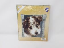 Vervaco Stamped Cross Stitch Pillow Kit - New - Terrier Puppy