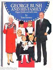 Vtg New 1990 George Bush & His Family Paper Dolls (Tom Tierny) Dover Book